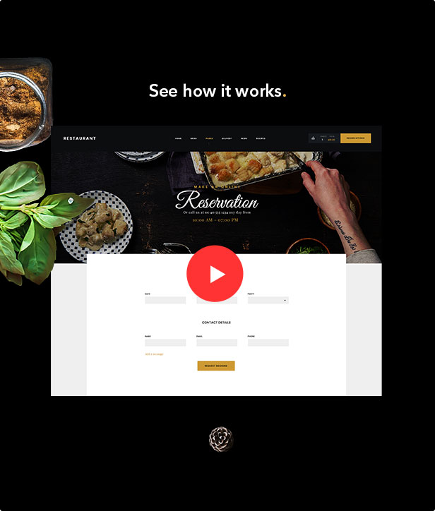Danny's Restaurant Creative eCommerce WordPress Theme