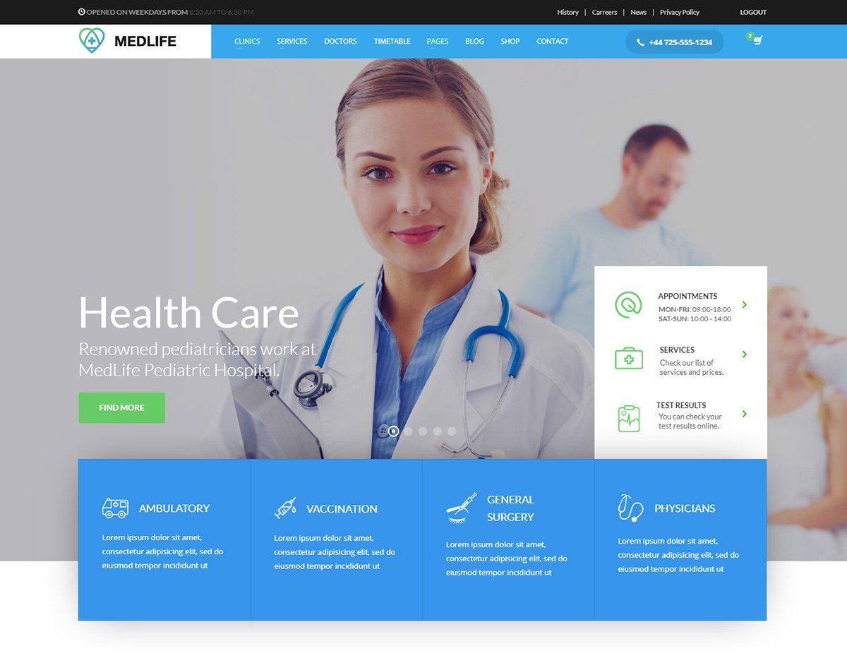 Medical WordPress eCommerce Theme - Kallyas