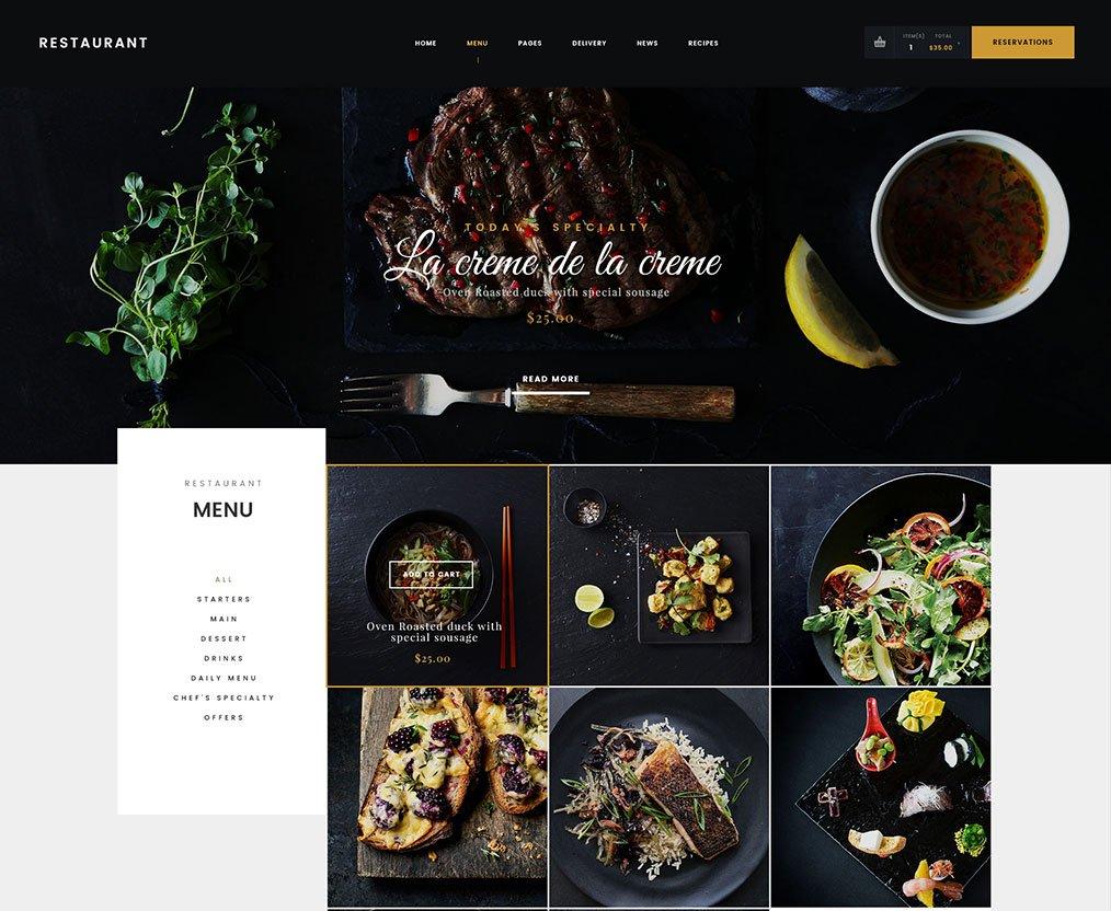Danny's - Restaurant HTML Template - Hogash