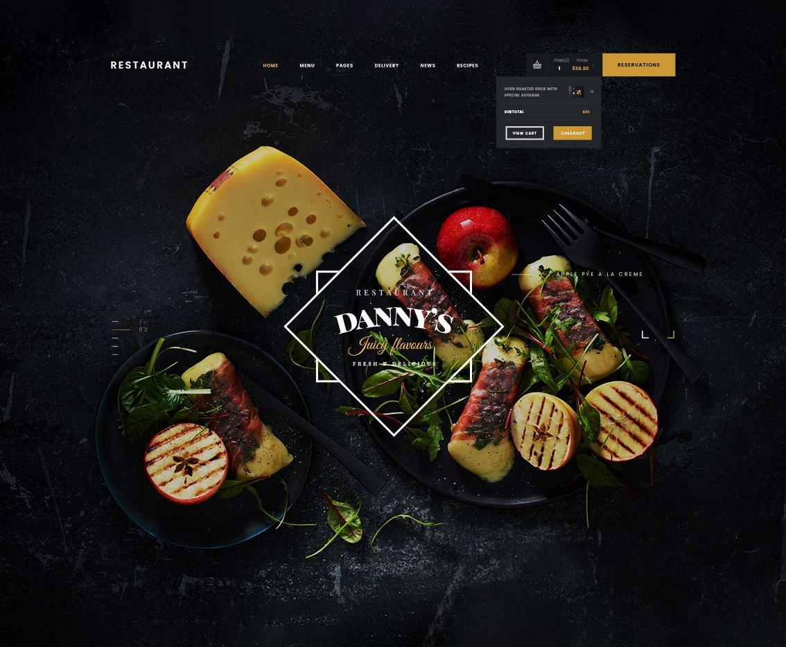 Dannyu0027s u2013 Restaurant HTML Template HTML Templates