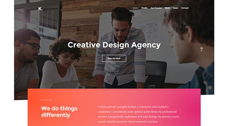 Creative Design Agency WordPress Theme - Kallyas