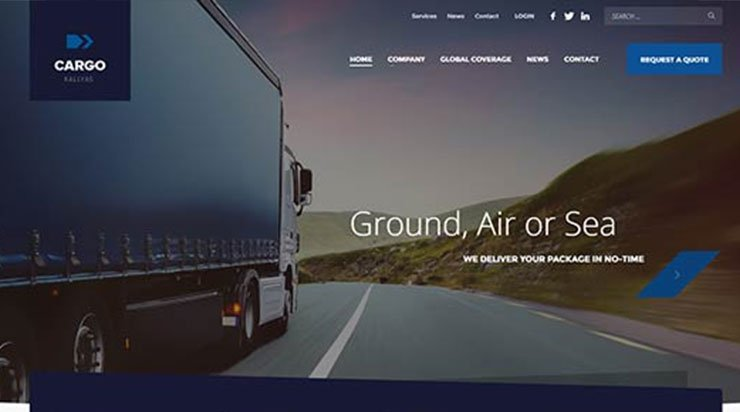 Cargo Transportation WordPress Theme - Kallyas