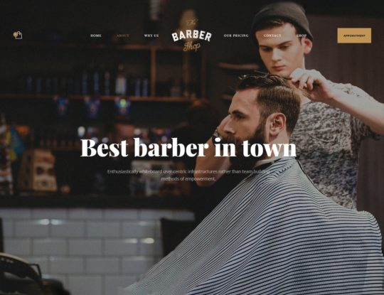 Barber Shop WordPress Theme - Kallyas