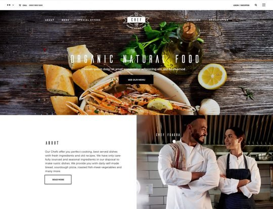 Pizza Restaurant WordPress Theme - Kallyas