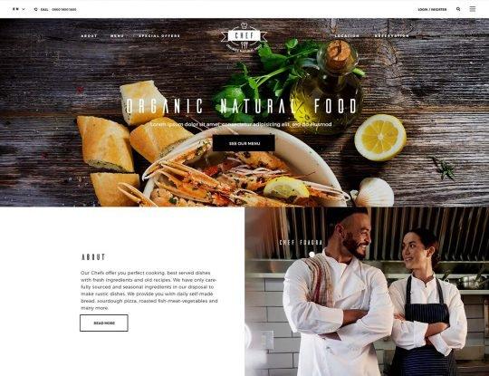 Pizza Restaurant WordPress Theme - Kallyas