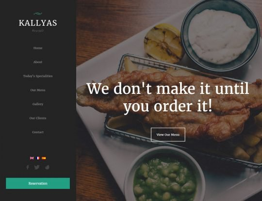 Bistro WordPress Theme - Kallyas