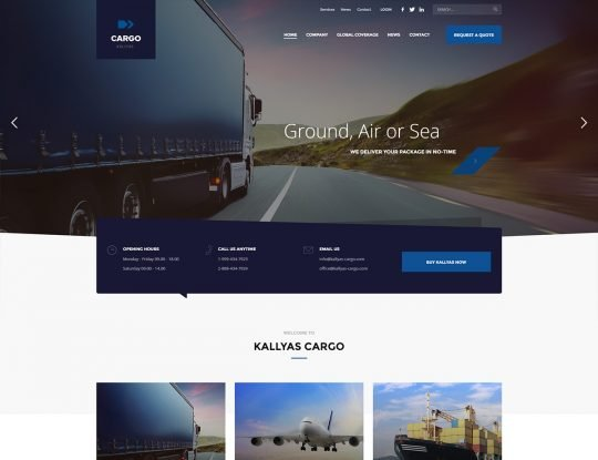 Cargo & Logistics WordPress Theme - Kallyas