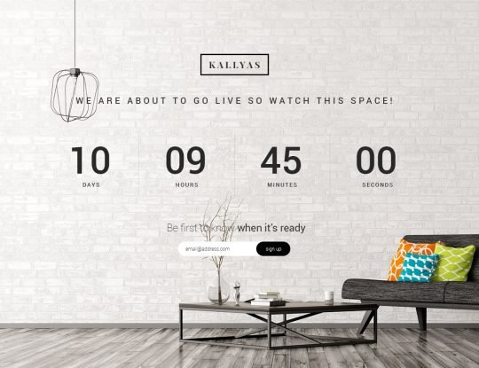 Coming Soon Page WordPress Theme - Kallyas