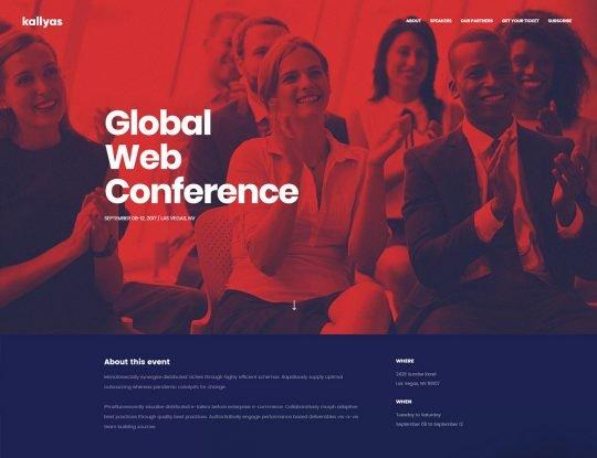 Conference Business WordPress Theme - Kallyas