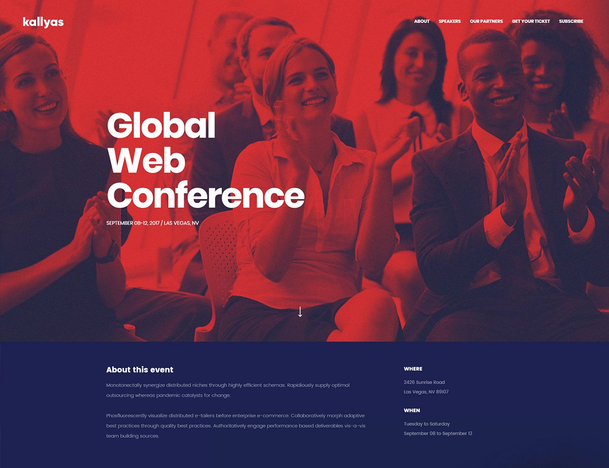Conference Business WordPress Theme - Kallyas