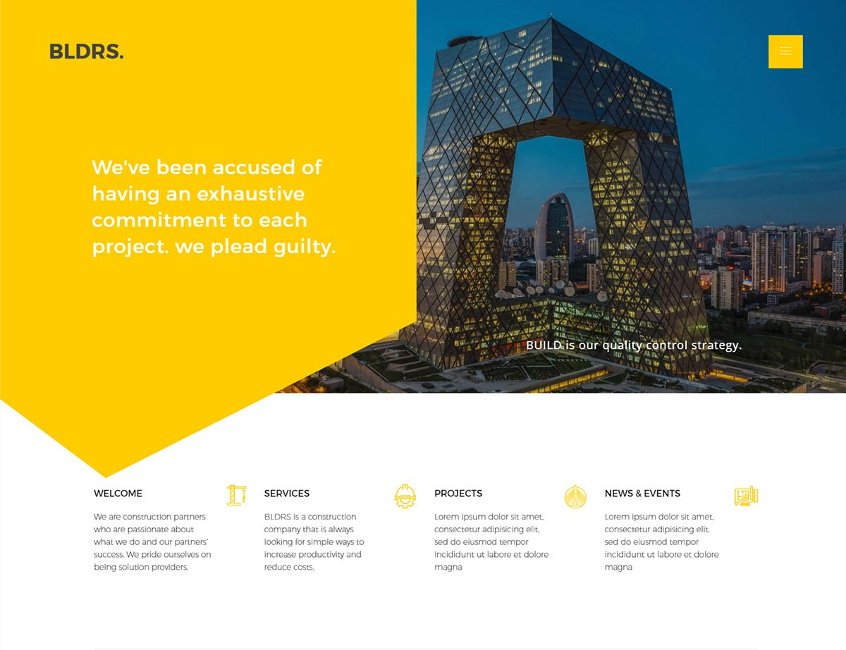 Construction Architect WordPress Theme - Kallyas