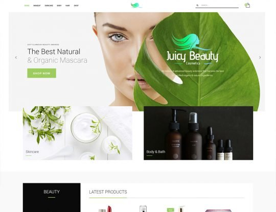 Cosmetics Shop WordPress Theme - Kallyas