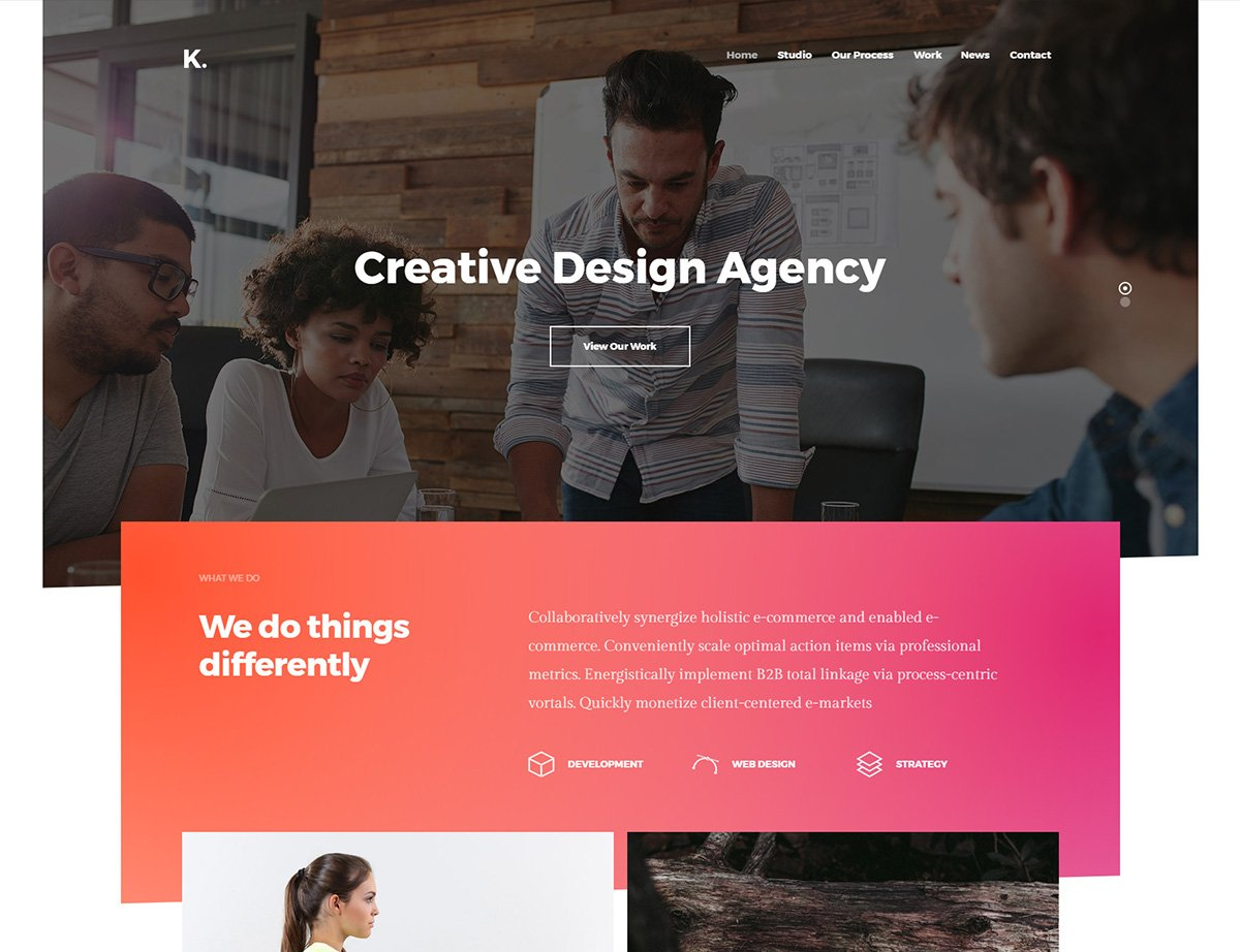 Creative Agency WordPress Theme - Kallyas