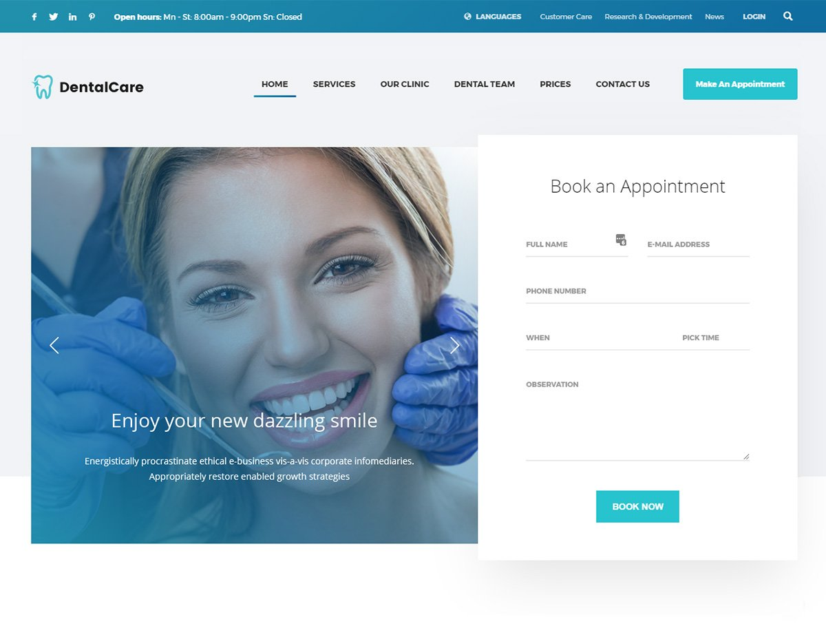 Dental Health Care WordPress Theme - Kallyas
