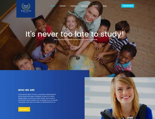 Education WordPress Theme - Kallyas