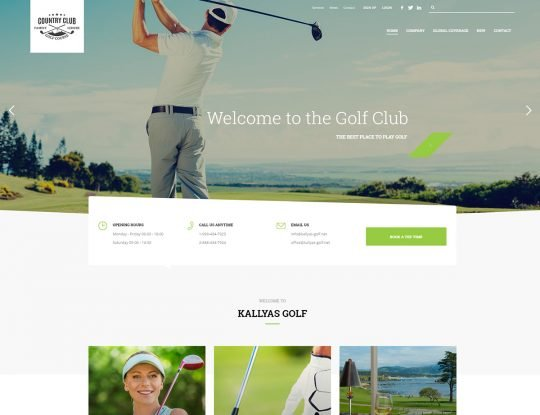 Golf Resort WordPress Theme - Kallyas