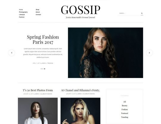 Gossip News WordPress Theme - Kallyas