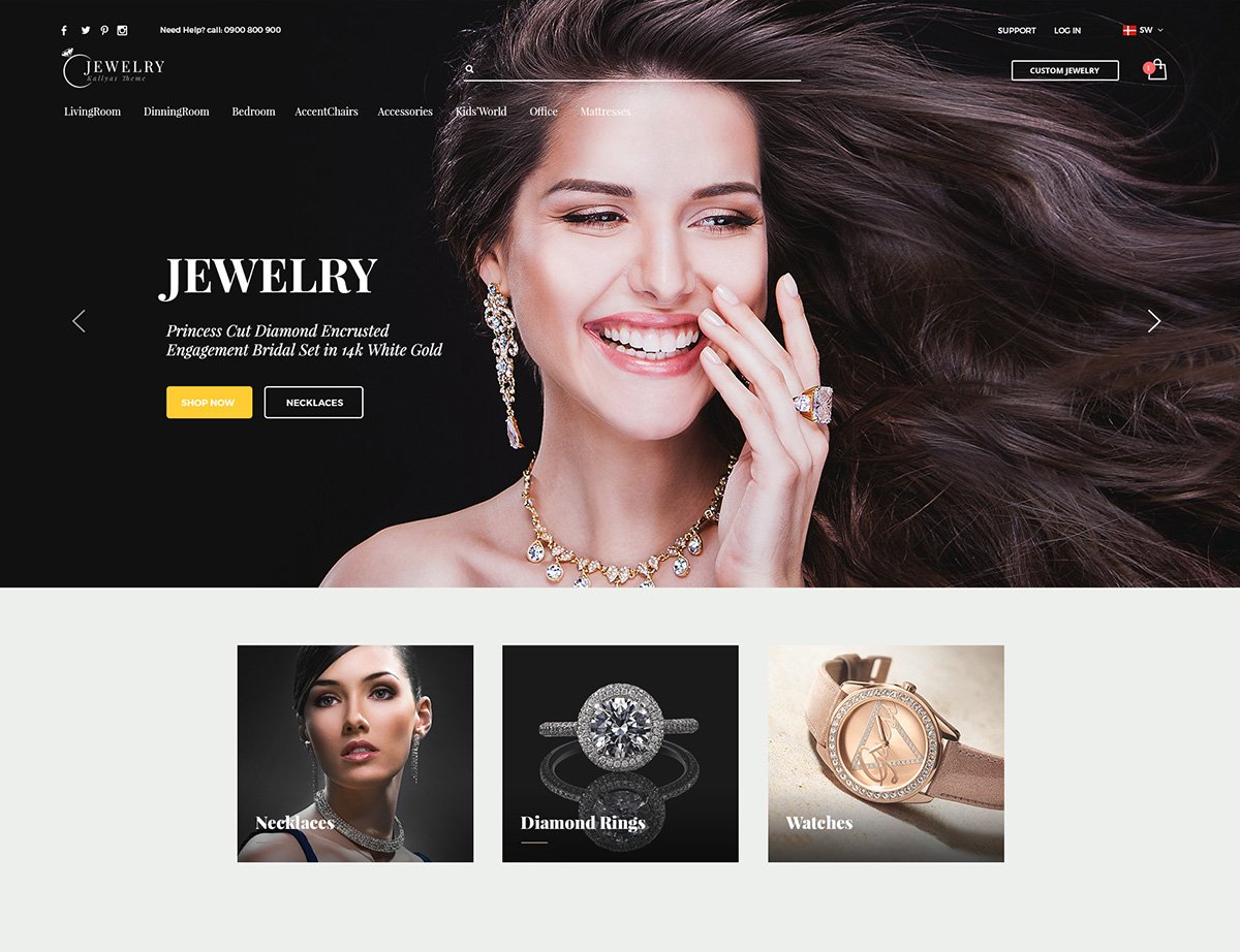 Luxury Jewelry WordPress Theme - Kallyas