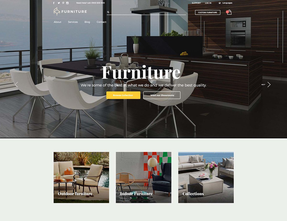 Furniture WordPress Theme - Kallyas