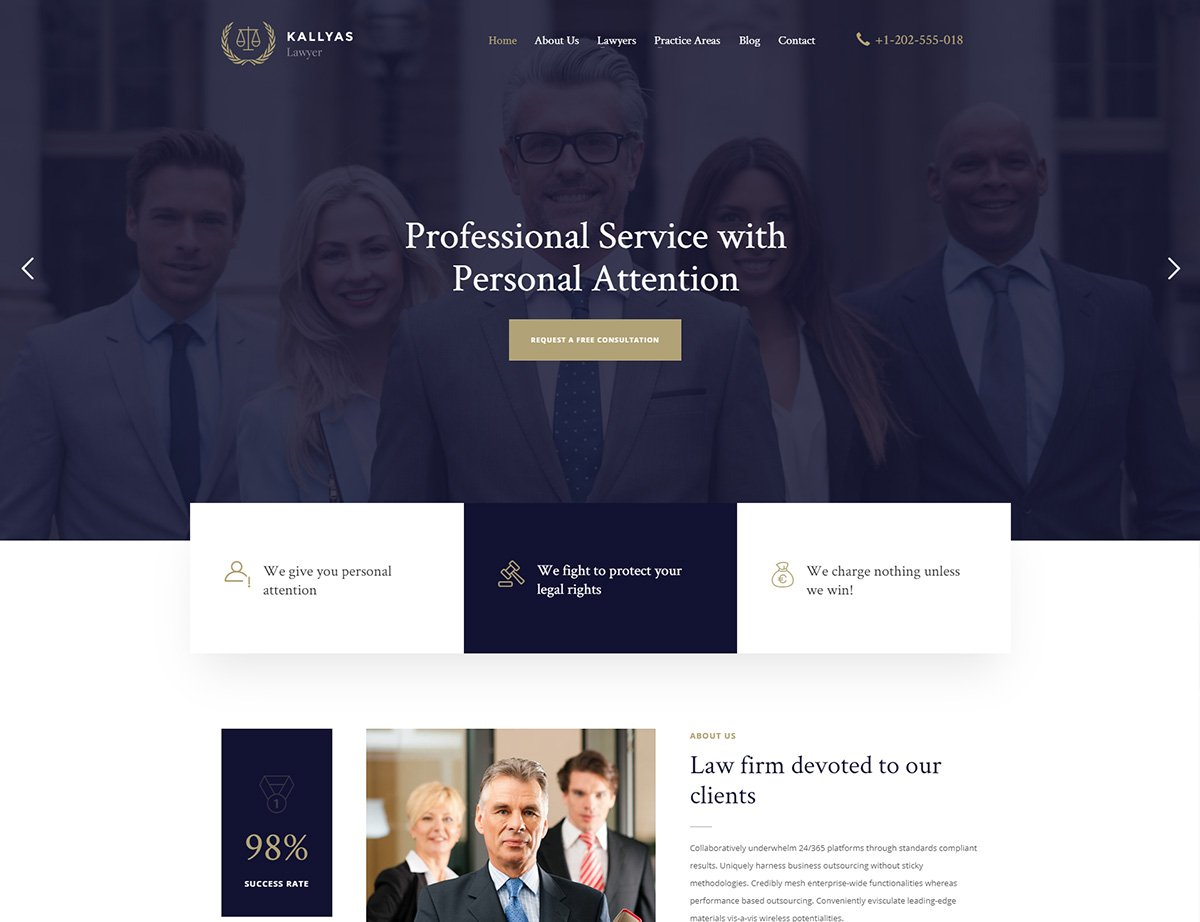 Lawyer WordPress Theme - Kallyas