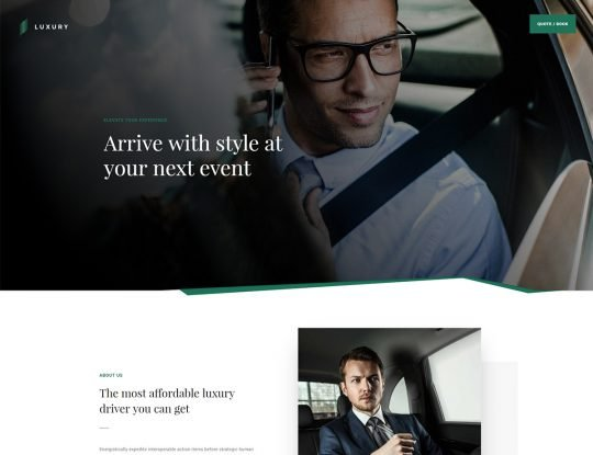 Luxury Driver WordPress Theme - Kallyas