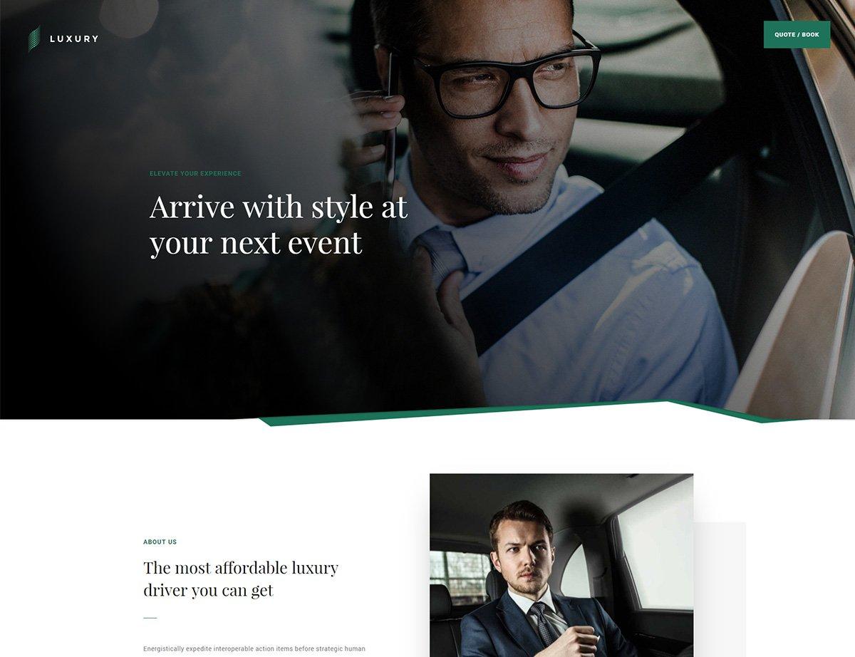 Luxury Driver WordPress Theme - Kallyas