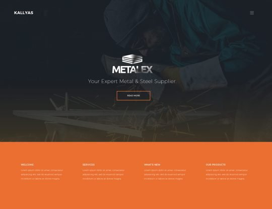 Metal Works WordPress Theme - Kallyas