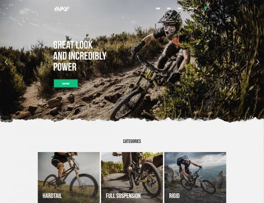 Mountain Bike Shop WordPress Theme - Kallyas