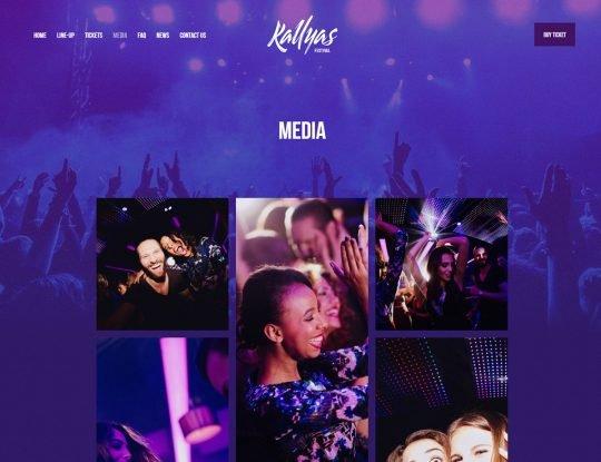 Musical Festival WordPress Theme - Kallyas