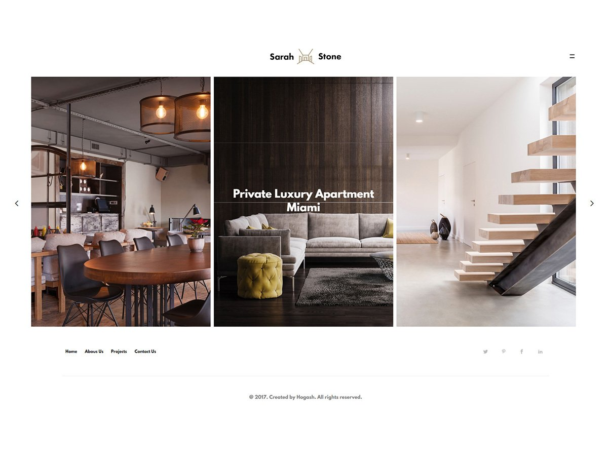 SarahStone – Interior Design Furniture HTML Template