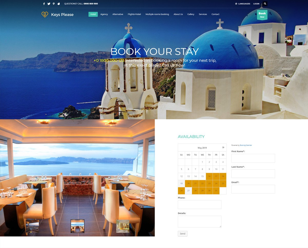 Travel & Hotel Booking WordPress Theme - Kallyas