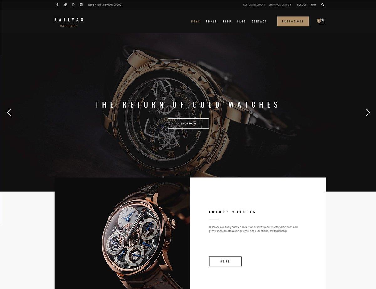Watches WordPress Theme - Kallyas