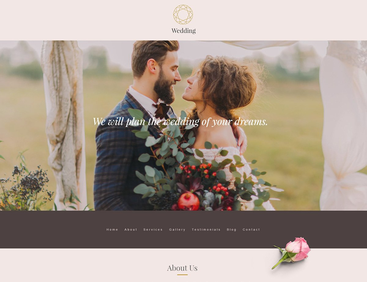 Wedding Planner WordPress Theme - Kallyas