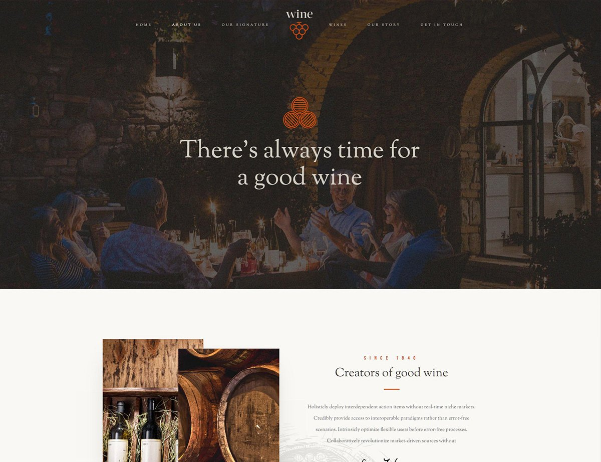 Winery WordPress Theme - Kallyas