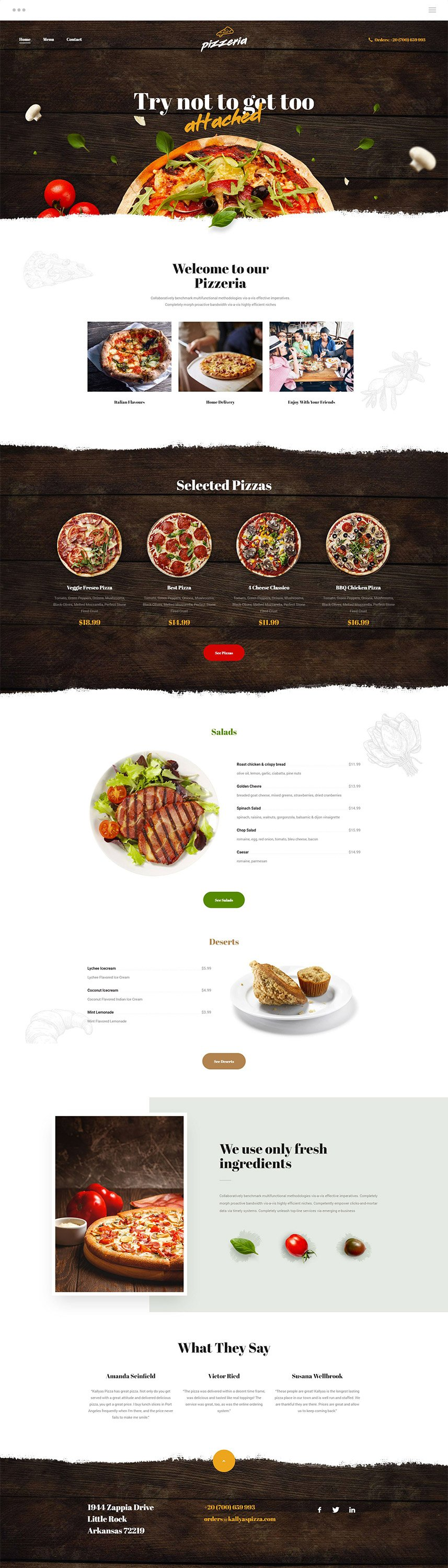 Pizza WordPress Theme - Kallyas