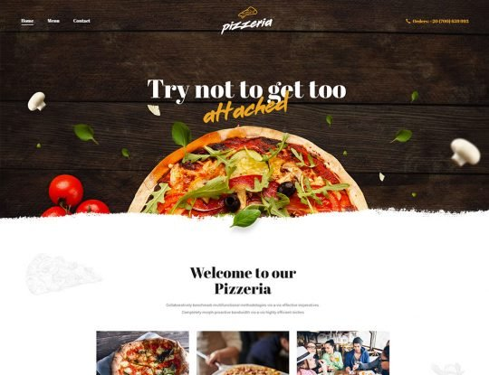 Pizza Delivery & Fast Food WordPress Theme - Kallyas