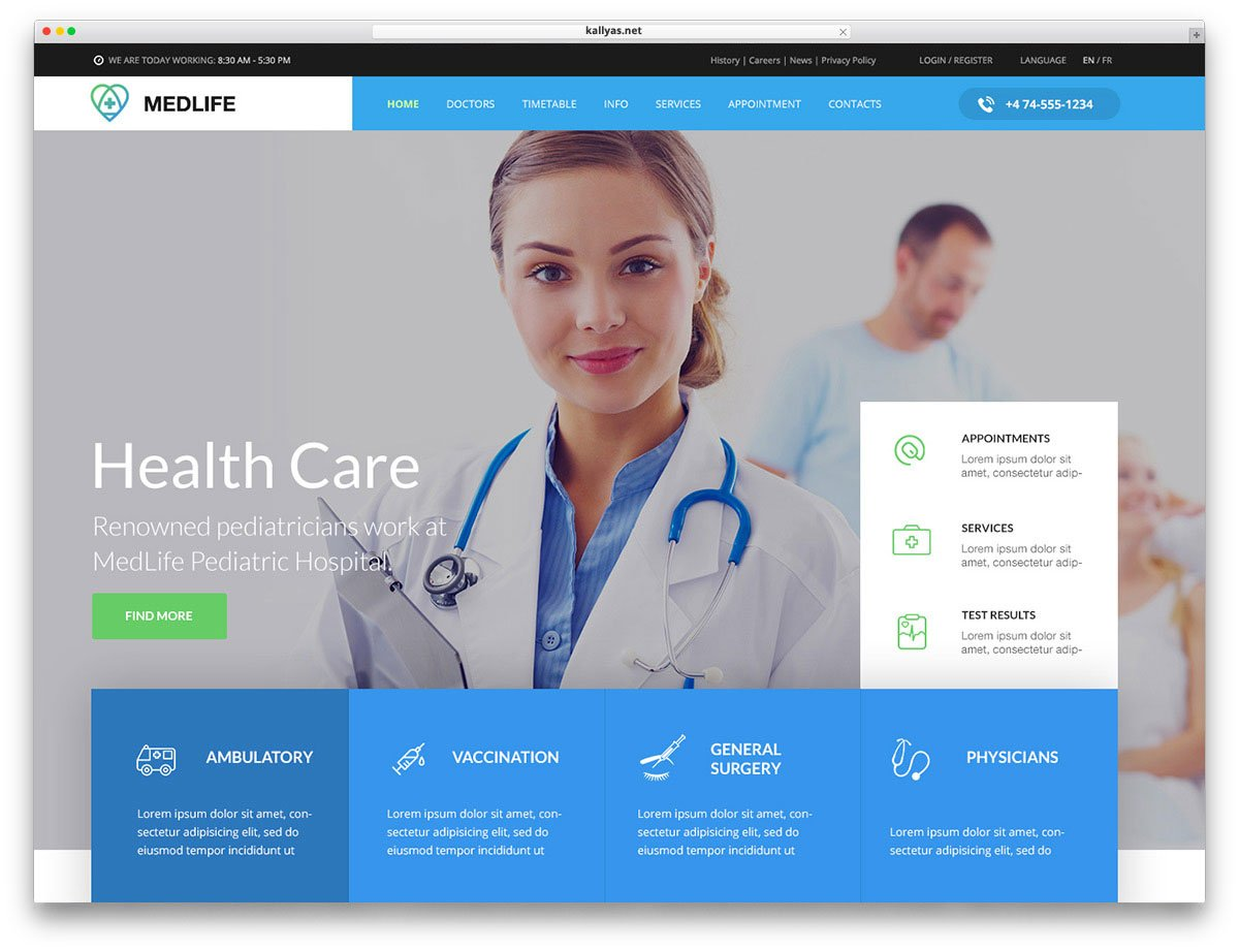 Best Health Medical Wordpress Theme In 2019