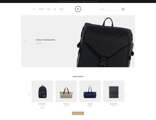 Minimal Store WordPress Theme - Kallyas