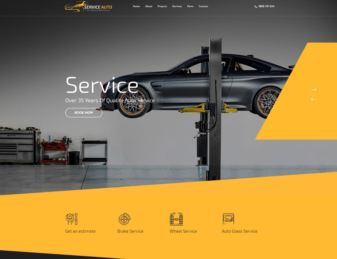 Car Service WordPress Theme - Kallyas