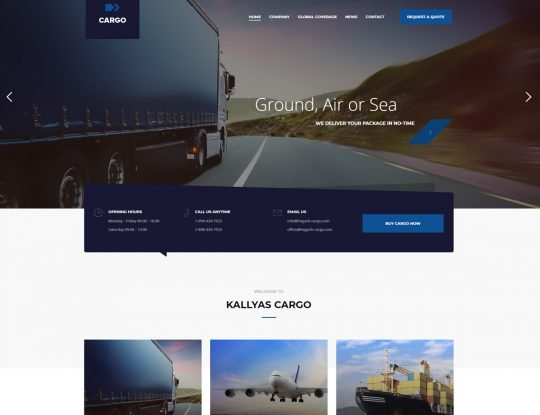 CargoFleet | Cargo Transport and Logistics HTML Template