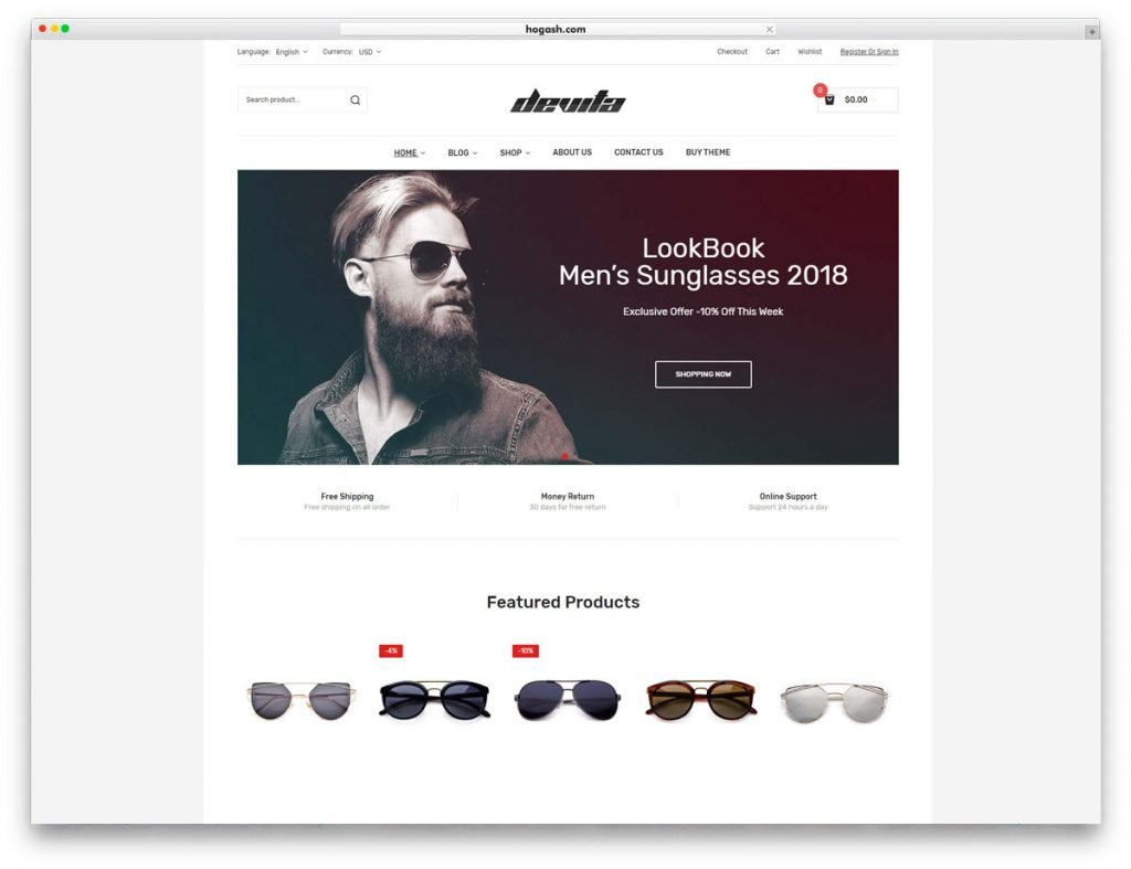 Eyewear WordPress Theme