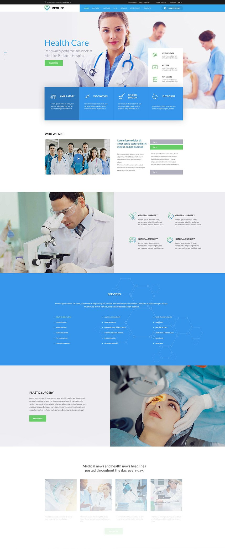 Health & Medical WordPress Theme - Kallyas