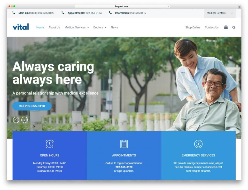 Health Medical Wellness WordPress Theme