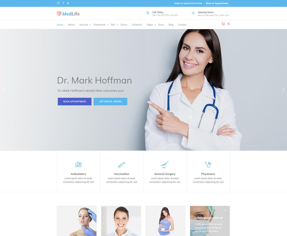 Health Medlife - Health Care HTML template