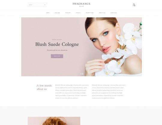 Perfume, Fragrance Shop WordPress Theme