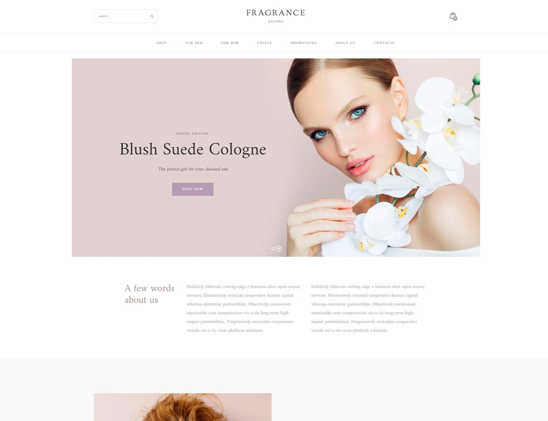 Perfume, Fragrance Shop WordPress Theme