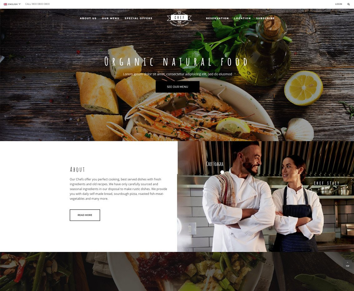 Restaurant Chef HTML Template