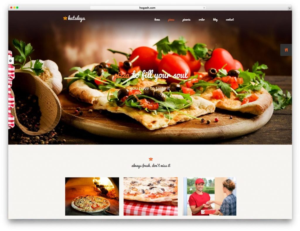 Restaurant Pizza Cafee WordPress Theme