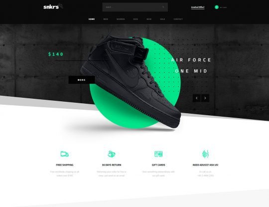 Sneakers Shop WordPress Theme - Kallyas
