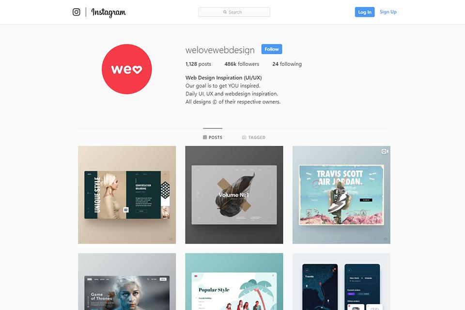 Instagram designer account